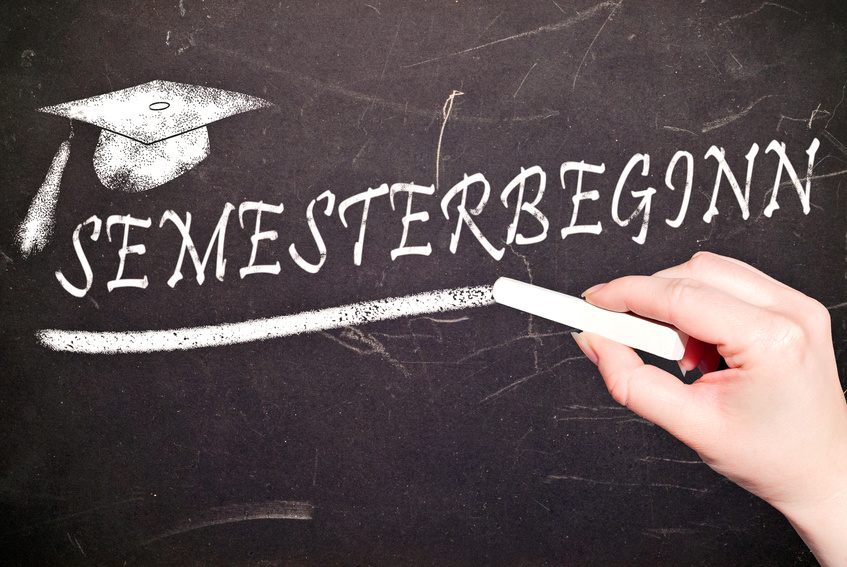 Semesterbeginn an deutschen Unis